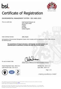 ISO14001 Cert